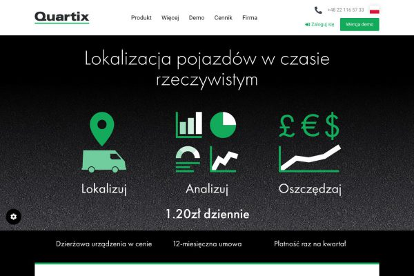 Quartix Homepage Polish